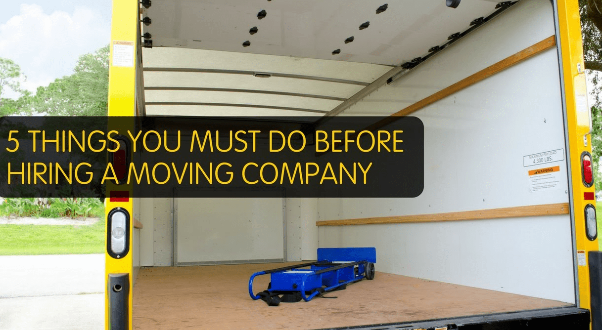 5 Tips for Hiring a Moving Service